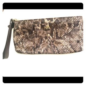 Coach snakeskin clutch